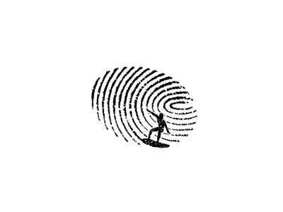 Surf Index water sports sketch identity fingerprint surfing surfer illustration icon logo