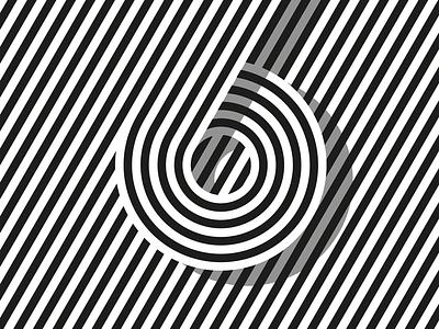 6 shadow stripes 6 vector logo type