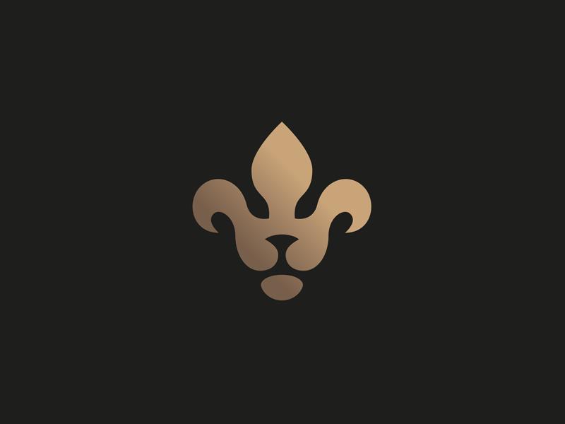 Fleur-de-lion symbol flower vector icon logo lion fleur de lis