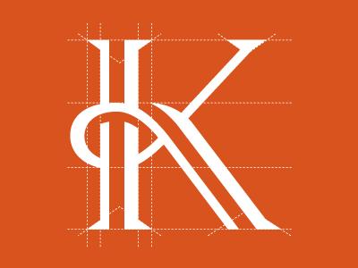 Kallaway grid. pr typography logo identity k