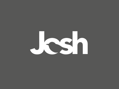 Josh type negative space logotype logo illustration bird animal
