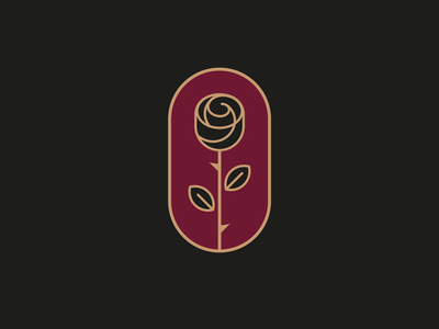 Black Rose flower illustration tattoo music rose identity vector icon logo
