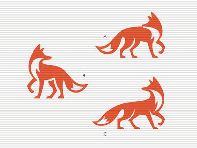 Skulking around vector logo mark icon illustration logo animal fox