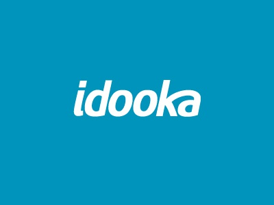Idookav1 logo type typography blue