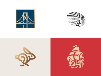 2018 top4shots surfer ship bridge animal illustration logo