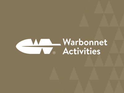 Warbonnet Activities vector wigwam negative space native american logo identity icon feather branding