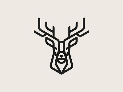 Stag botanicals geometric stag deer chinese medicine cbd animal identity vector icon illustration logo