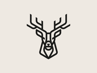 Stag botanicals geometric stag deer chinese medicine cbd animal identity vector icon illustration logo