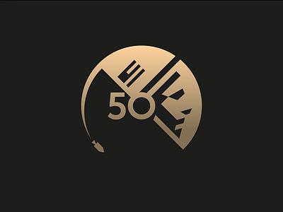 50 50 apollo 11 badge 1969 space nasa moon astronaut moon landing vector illustration logo