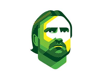DF line art line linestyle head sports logo sport face norwich city daniel farke football logo design vector illustration