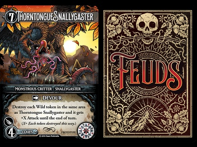Feuds Card Layout game layout card back card design card layout card art game art game design design