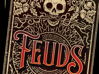 Feuds Card Back game layout design card layout card design card back game art card art