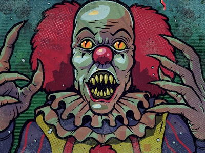 Just Get Over It: Pennywise monster art print monster illustration design poster stephenking pennywise clown it