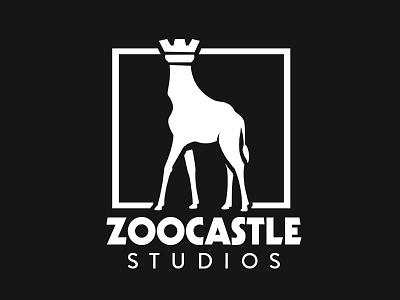 Zoo Castle Logo animal logo rook castle giraffe studio zoo logomark design logo