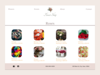 Florist Theme Product Menu