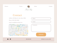 Contact + Form For Florist Theme