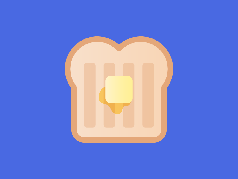 Buttered Toast dairy whole wheat loaf white bread food icons icon design morning bread breakfast buttered toast butter toast
