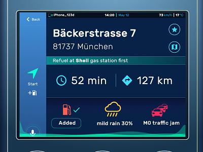Car central interface automotive touchscreen ui car