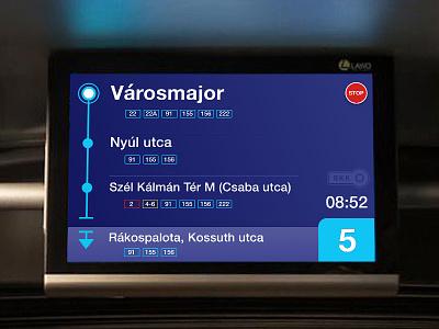 Public transport screen redesign automotive bus stop schedule info screen public transport bus