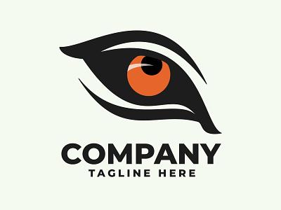 Tiger Eye Logos wildlife animal pilosofi angry predator eye symbol logo tiger