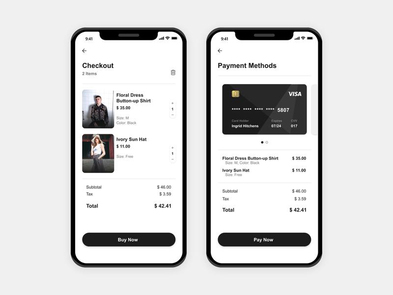 Credit Card Checkout UI cart receipt payments payment page modern design monotone simple design app ui ecommerce app credit card checkout checkout page checkout ui dailyui 002 dailyui