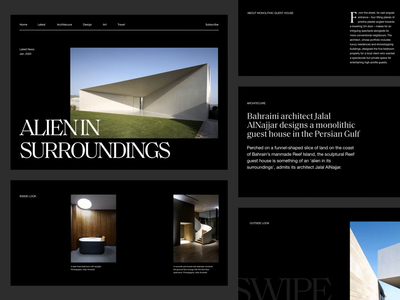 Architecture Website blog design article blog layout exploration layoutdesign minimalist webdesign web design website photography whitespace modern layout typography minimal architecture
