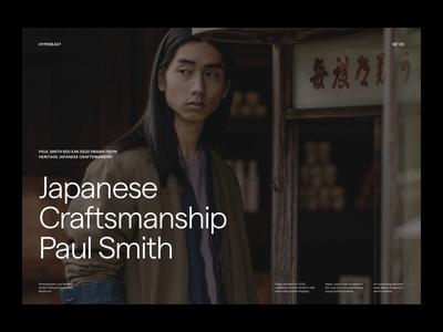 Paul Smith Editorial Presentation presentation hypebeast fashion photography modern layout typography minimal editorial editorial design