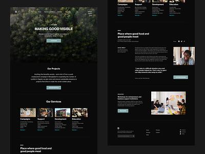 NGO Homepage social impact homepage non profit web design minimalist website whitespace ngo photography layout modern typography minimal