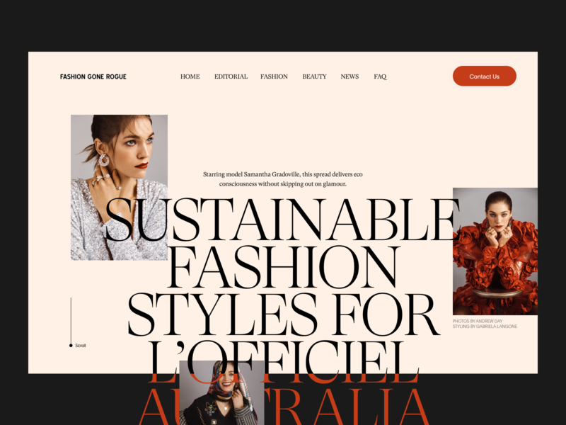 Fashion  Website Header