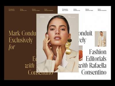 Fashion Editorials x Rafaella Consentino poster art fashion brand serif editorial design poster minimalist editorial fashion whitespace photography modern layout typography minimal