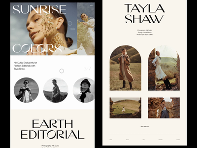 Fashion online magazine editorial art fashion brand homepage web design editorial design website editorial whitespace photography modern layout typography minimal fashion