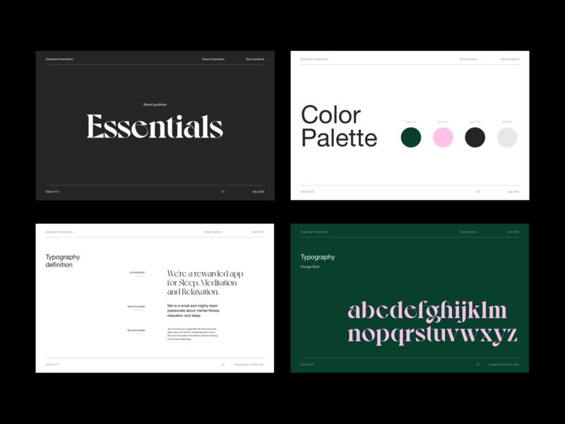 Presentation Slides 01 visual design visual identity pitchdeck whitespace modern layout typography minimal slides presentation template presentation design presentation