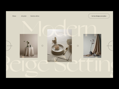 Interior Design Header editorial design web design architecture serif minimalist website header photography modern layout typography minimal interior design interiors interior