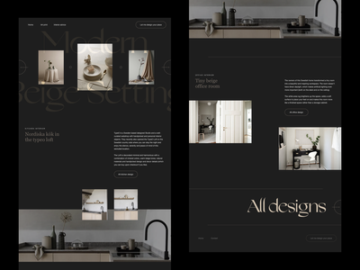 Interior design website editorial design interior design website concept website design whitespace photography modern layout typography minimal architecture interior architecture interiordesign interior