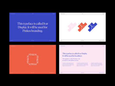 Pinkos Visual Identity Presentation minimalist presentation design presentation layout modern minimal typography wordmark logo wordmark logo design branding design brandbook brand design branding visual identity visual design
