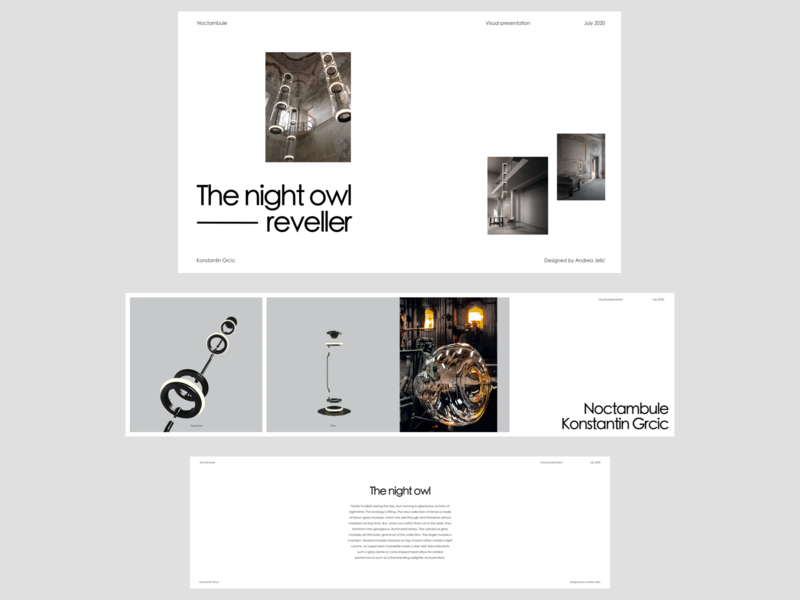 Nactambule Presentation furniture store furniture lamps architecture presentation visual presentation brand materials presentation template presentation design whitespace photography modern layout typography minimal