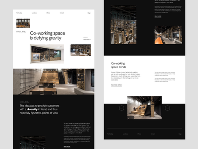 Co-working space Website website design website whitespace photography modern layout office design office space office work typography minimal coworkers coworking coworking space