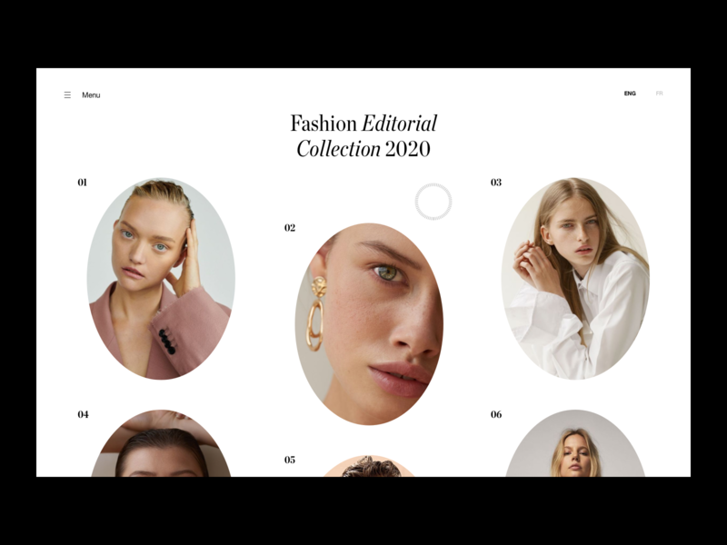 Fashion Editorial  Collection 2020 blog design editorial design minimalist website editorial fashion whitespace photography modern layout typography minimal