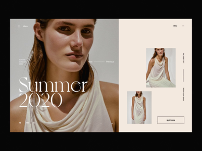 eCommerce Header Slider fashion website fashion design ecommerce shop editorial design fashion photography modern layout typography minimal header design slider design slider header ecommerce design ecommerce