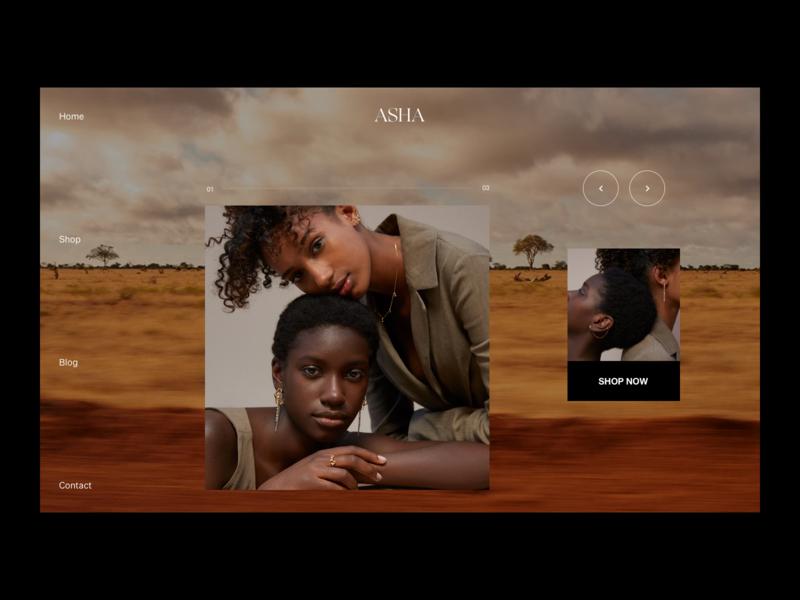 ASHA Website ecommerce ecommerce design accessories editorial minimalist editorial design fashion brand website photography modern layout typography minimal fashion design fashion