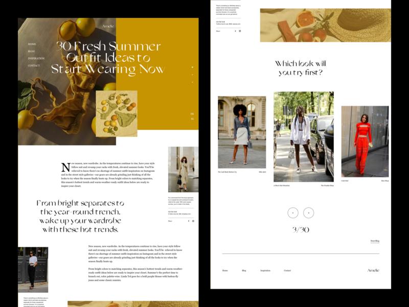 Fashion Blog blog design blog post editorial design web design editorial website photography modern layout typography minimal fashion blog fashion