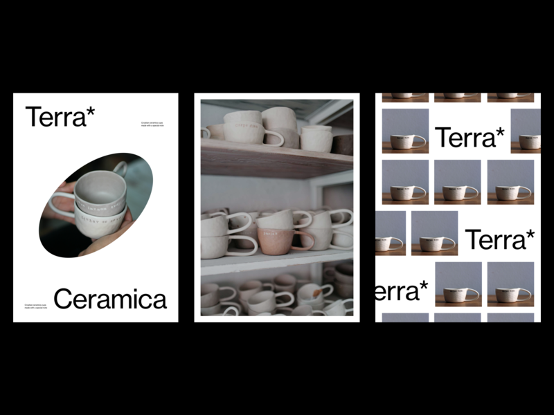 Terra Ceramica cups editorial design minimalist editorial photography modern layout typography minimal ceramic ceramics poster design poster a day poster art