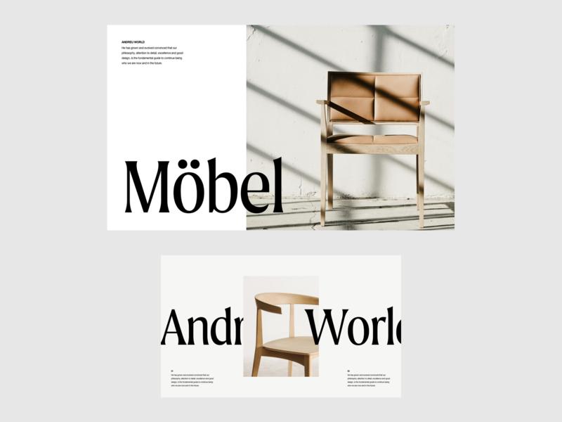 Möbel Presentation whitespace photography modern layout typography minimal furniture furniture design architecture design brand presentation brand design presentation template presentation design architecture
