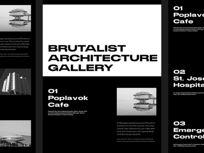 Atlas of Brutalist Architecture brutal web design whitespace modern layout typography minimal photography portfolio gallery brutalist photography architecture brutalist design brutalism