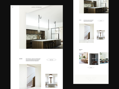 Alwill Interiors Homepage archi studio website brand website minimalist website whitespace photography modern layout typography minimal interior architecture architecture interior design interiors