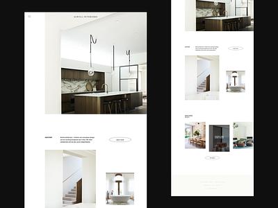 Alwill Interiors Homepage archi studio website brand website minimalist website whitespace photography modern layout typography minimal interior architecture architecture interior design interiors