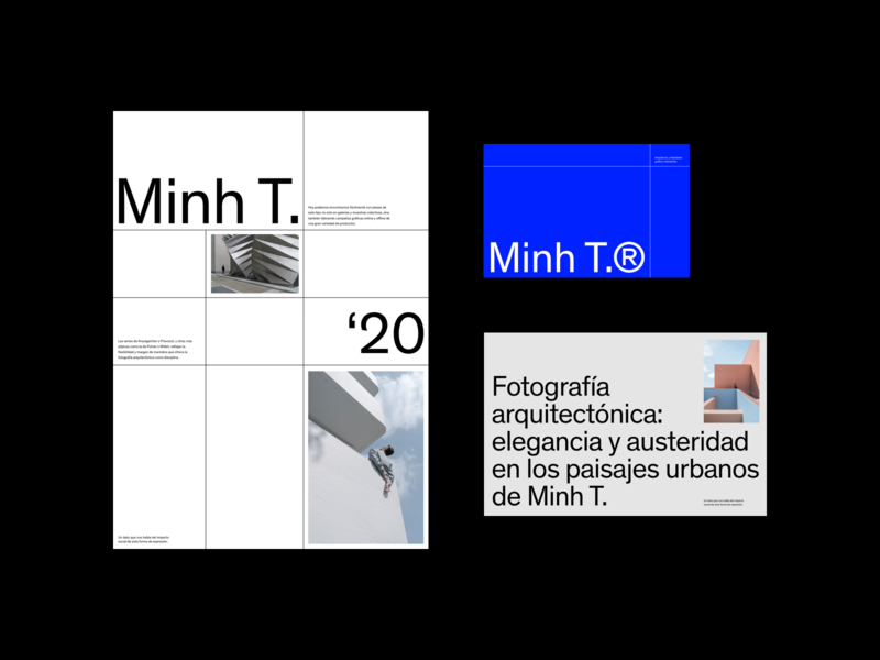 Minh T. Portfolio 2020 portfolio page architectural architecture portfolio site portfolio web design minimalist editorial website whitespace photography modern layout typography minimal