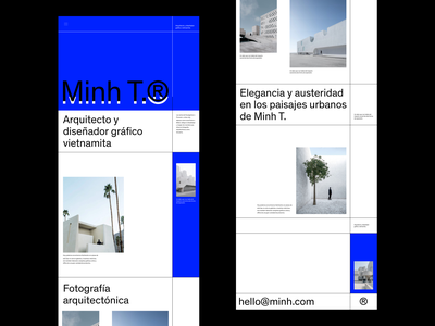 Minh T.  Portfolio Website photographer architecture typedesign typeface modern resume editorial design web design website whitespace photography modern layout typography minimal portfolio website portfolio design portfolio portfolio site