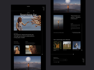 Aesthetica Website Design editorial layout homepage aesthetica editorial design blog post blog design blog minimalist editorial website fashion whitespace photography modern layout typography minimal