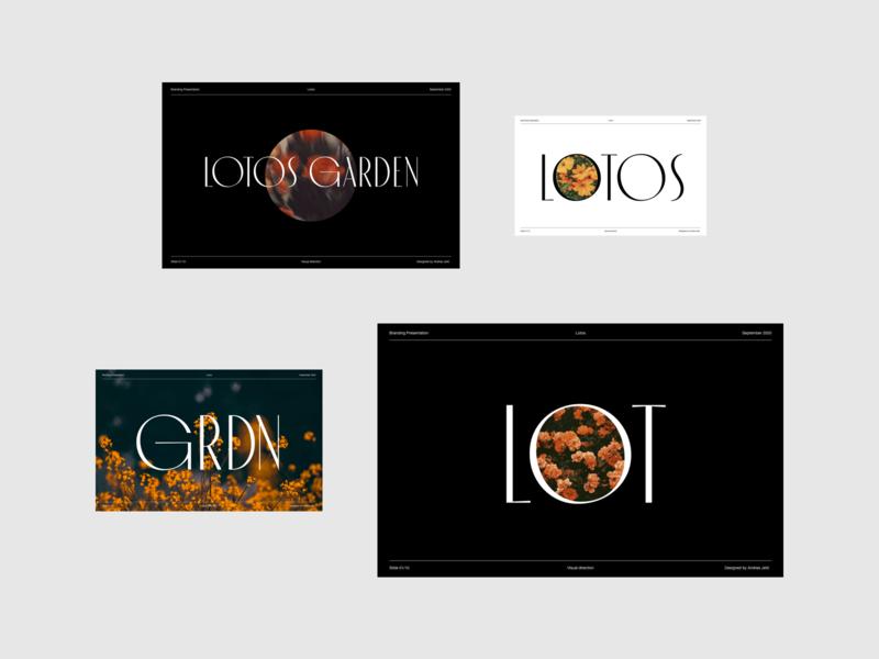 Lotos Garden Visual Exploration logodesign logo garden flower minimalist photography modern layout typography visual direction visual exploration branding design branding presentation design presentation minimal